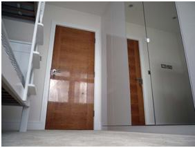 Wooden gloss door