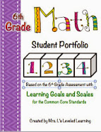 Math Portfolio Pages for Student Work