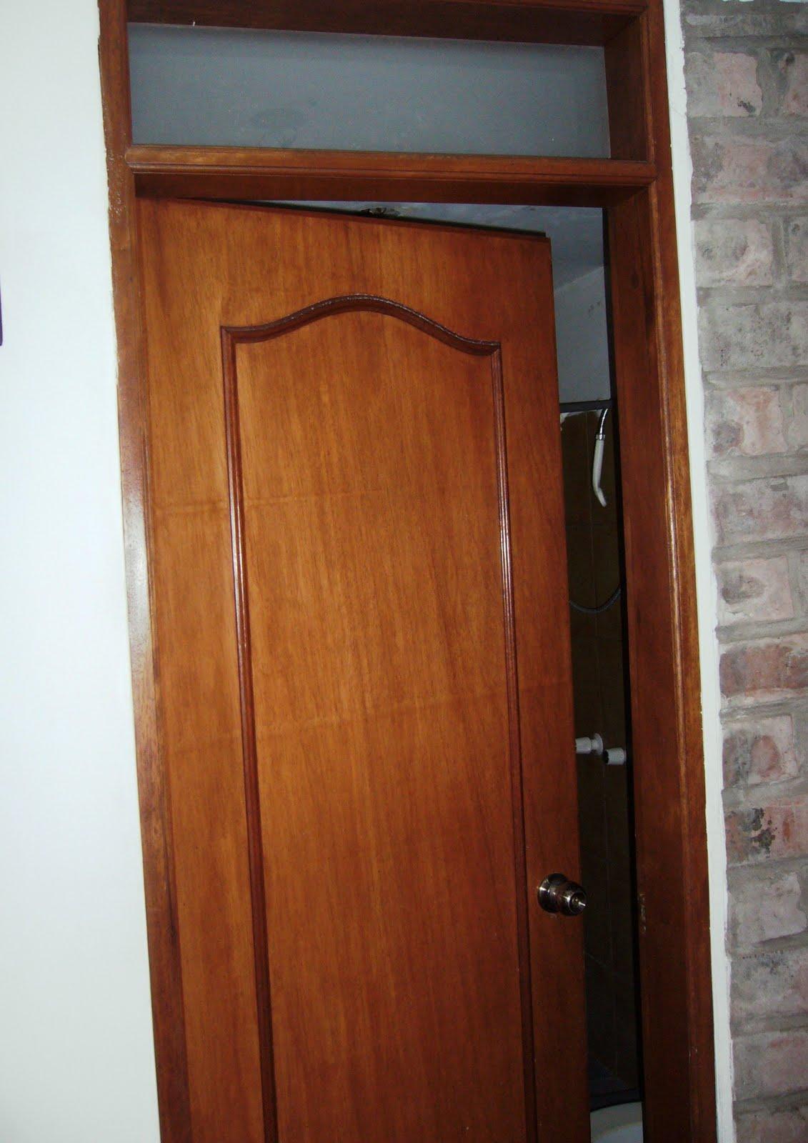Jaladeras para puertas de ba o for Puertas de madera para bano