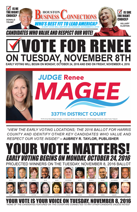 JUDGE RENEE MAGEE VALUES OUR VOTE, SUPPORT AND COMMUNITY!