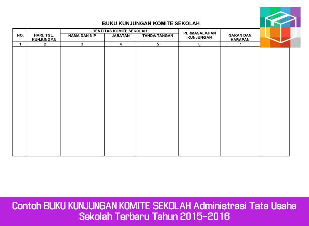 Contoh Buku Kunjungan Komite Sekolah Administrasi Tata Usaha Sekolah