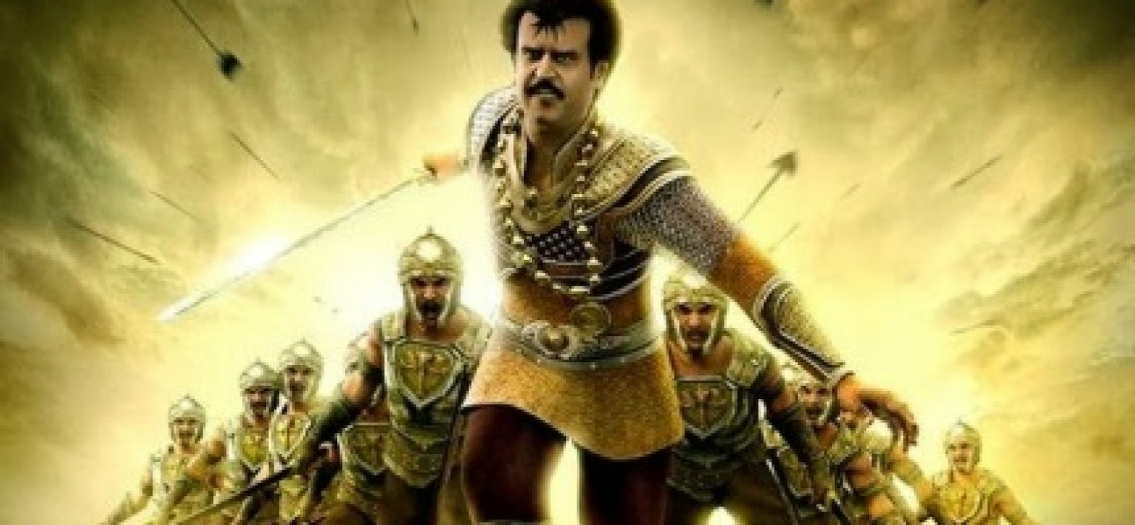 Rajinikanth as Kochadaiiyaan, Rana and Sena
