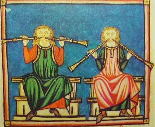 Flautas dobles medievales