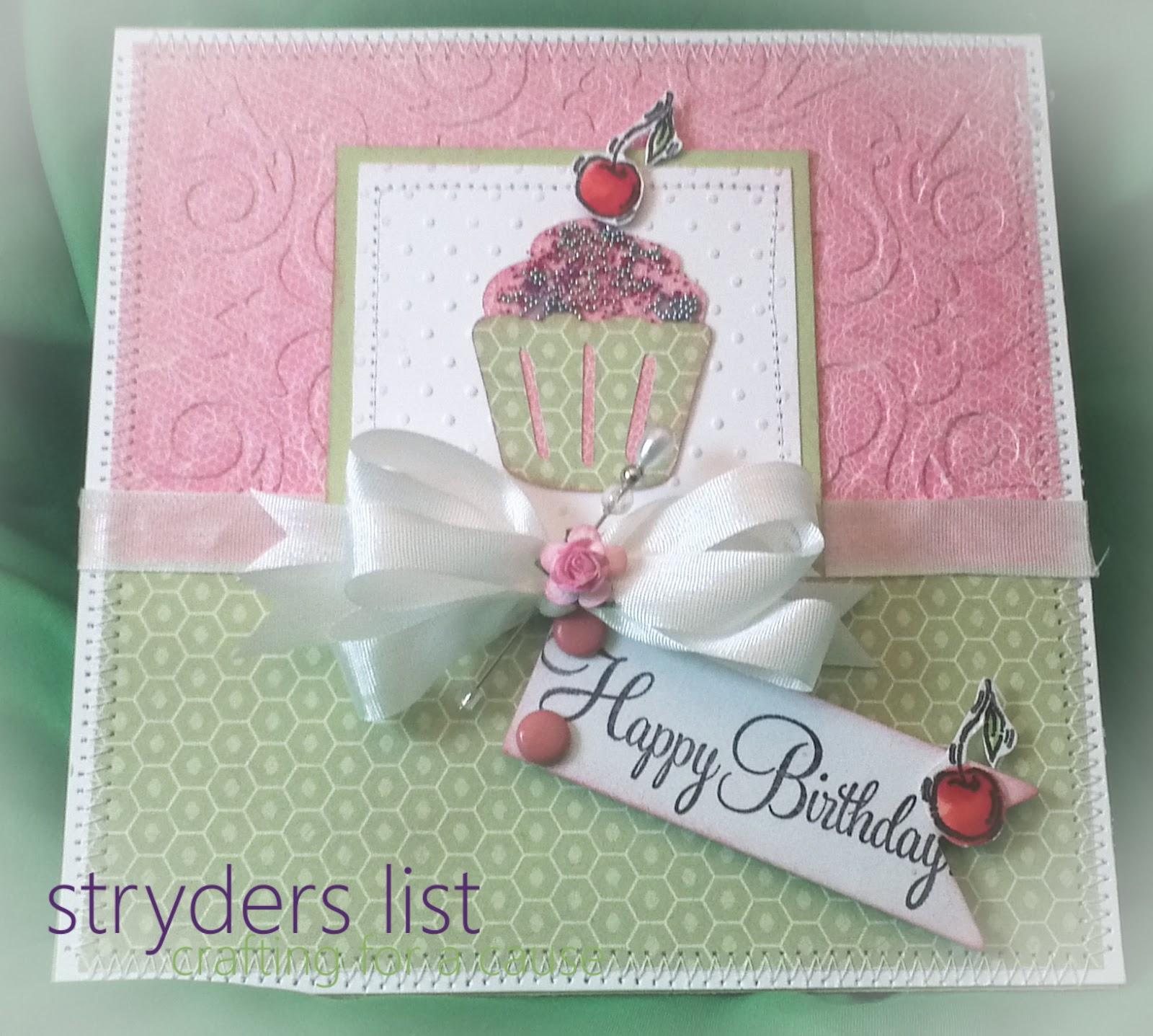 *STRYDERS LIST*: Happy Birthday Card
