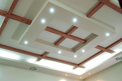 Hotel Bedroom Design on Modern False Ceiling Design For Living Room From Wood And Gypsum With