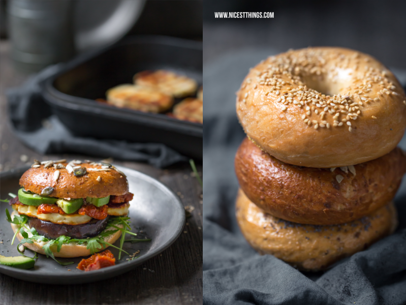 Mystic Light Food Photography Tutorial and Halloumi Bagels