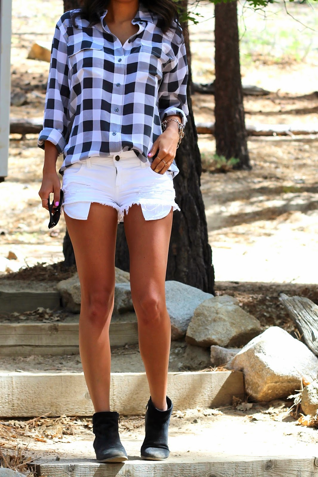 cutoff shorts, camping outfit, nordstrom, revolveclothing, equipment blouse