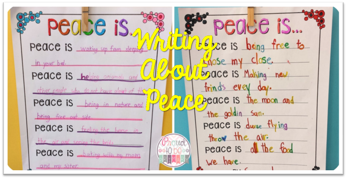 peace Archives – Proud to be Primary
