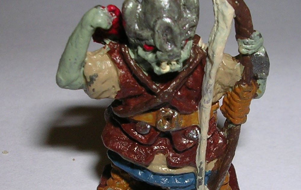 Bat In The Attic The World S Crappiest Orc Miniature Painted