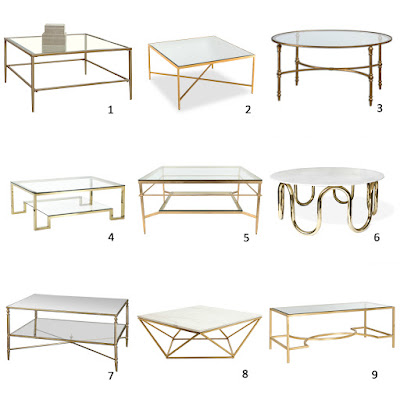 Am dolce vita a roundup of brass and glass coffee tables for Homesense coffee table