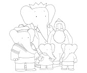 #6 Babar Coloring Page
