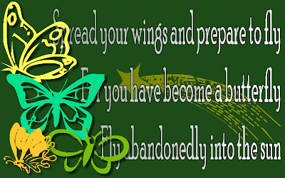 Butterfly - Mariah Carey Song Lyric Quote in Text Image
