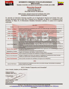 Agenda MSBColombia 2013 - 2014