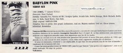 babilon pink vhs