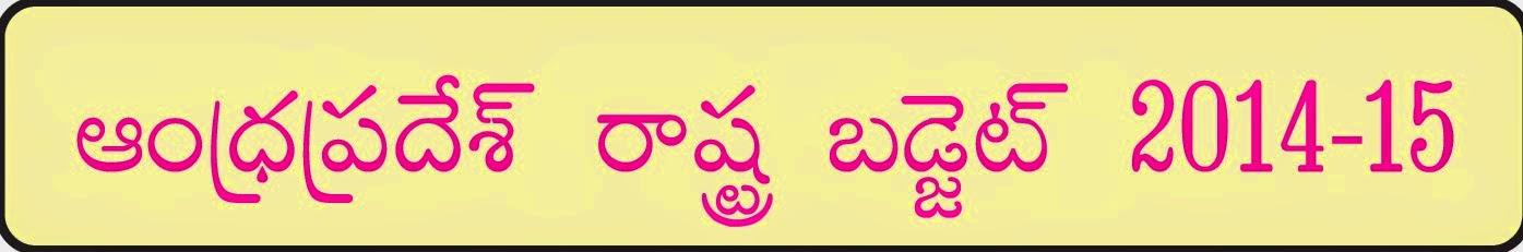 Andhra Pradesh Budget 2014-15