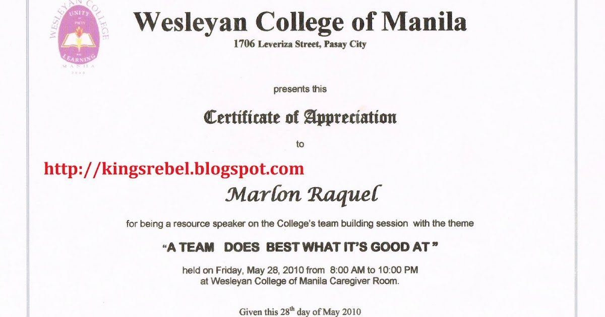 Tidbits and bytes example of certificate of appreciation tidbits and bytes example of certificate of appreciation college team building session yadclub Images