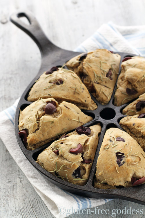 Savory Gluten-Free Scones with Olives and Rosemary