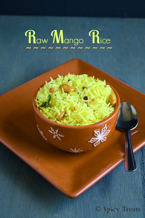 Raw Mango Rice / Maanga Sadham / Quick Mango Rice