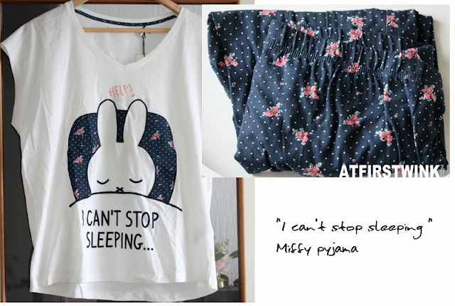 "Women' secret  ""I can't stop sleeping "" Miffy pyjama nijntje short sleeves and long pants"