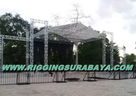Harga Panggung Rigging Stage 10 x 12 meter siap konser