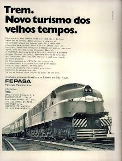 propaganda Fepasa - Ferroviária Paulista - 1972;  1972; brazilian advertising cars in the 70s; os anos 70; história da década de 70; Brazil in the 70s; propaganda carros anos 70; Oswaldo Hernandez;