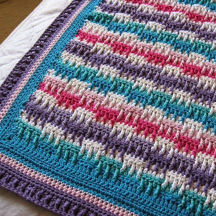 Bright Textures Blanket - Free Pattern