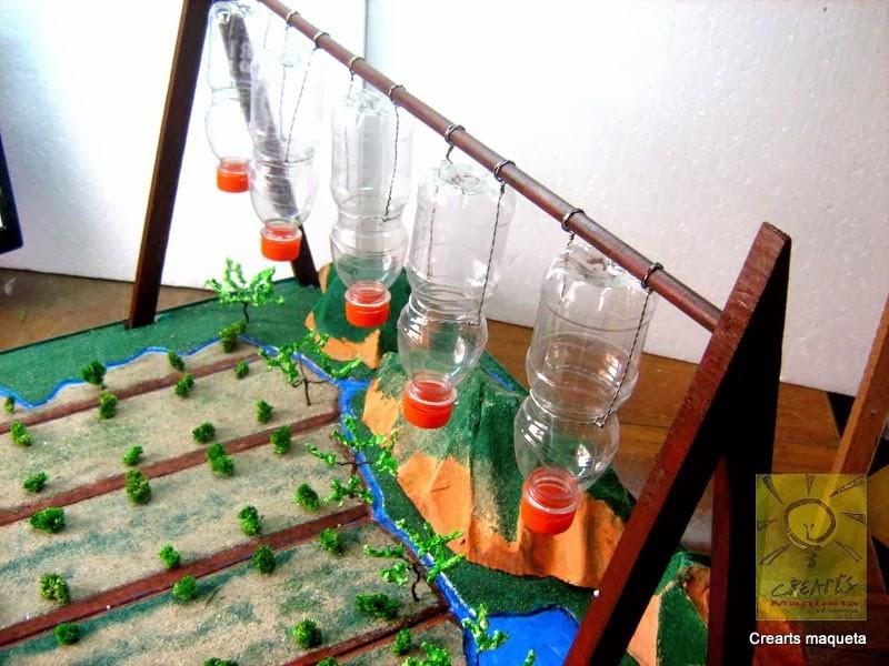 Crearts maqueta sistema de riego por goteo for Sistema de riego