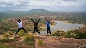 Jumping photo, Makalidurga