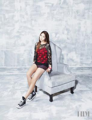 Fiestar Jei Cao Lu Linzy Hyemi Cheska Yezi HIM Magazine November 2012