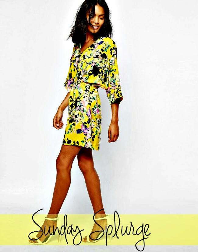 Sunday Splurge, Spring Outfits, Boston Fashion, Boston Fashion Blog, Boston Blogger, Shopping, Online Shopping, Yellow Dresses, Spring 2015 Trends, How To Wear Yellow, Kimono Dresses, Kimonos