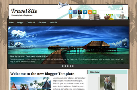 TravelSite Free Template