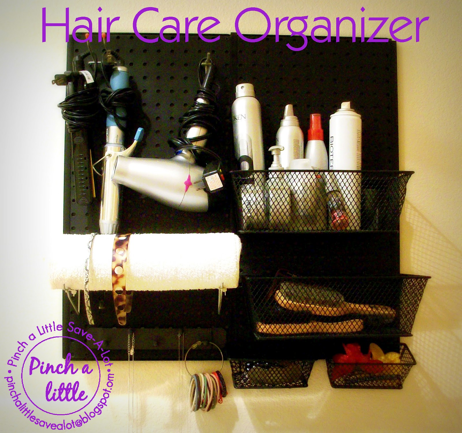 DIY Hair Care Organizer U0026 Headband Holder