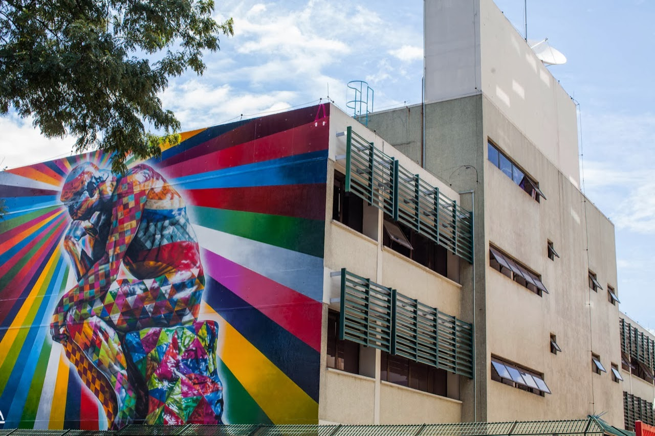 """The Thinker"" a new Street Art piece by Eduardo Kobra on the streets of Sao Paulo, Brazil. 4"