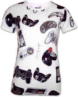 Camiseta Friki mandos de consola