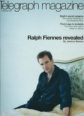 Ralph Fiennes on the cover Telegraph Magazine styled by Jessica Moazami