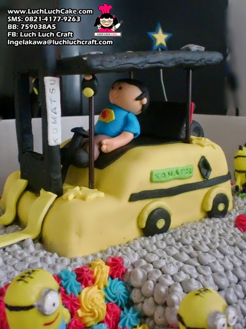 Forklift Birthday Cake