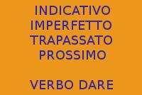 VERBO DARE IN ITALAINO - 10 FRASI CON INDICATIVO IMPERFETTO E TRAPASSATO PROSSIMO