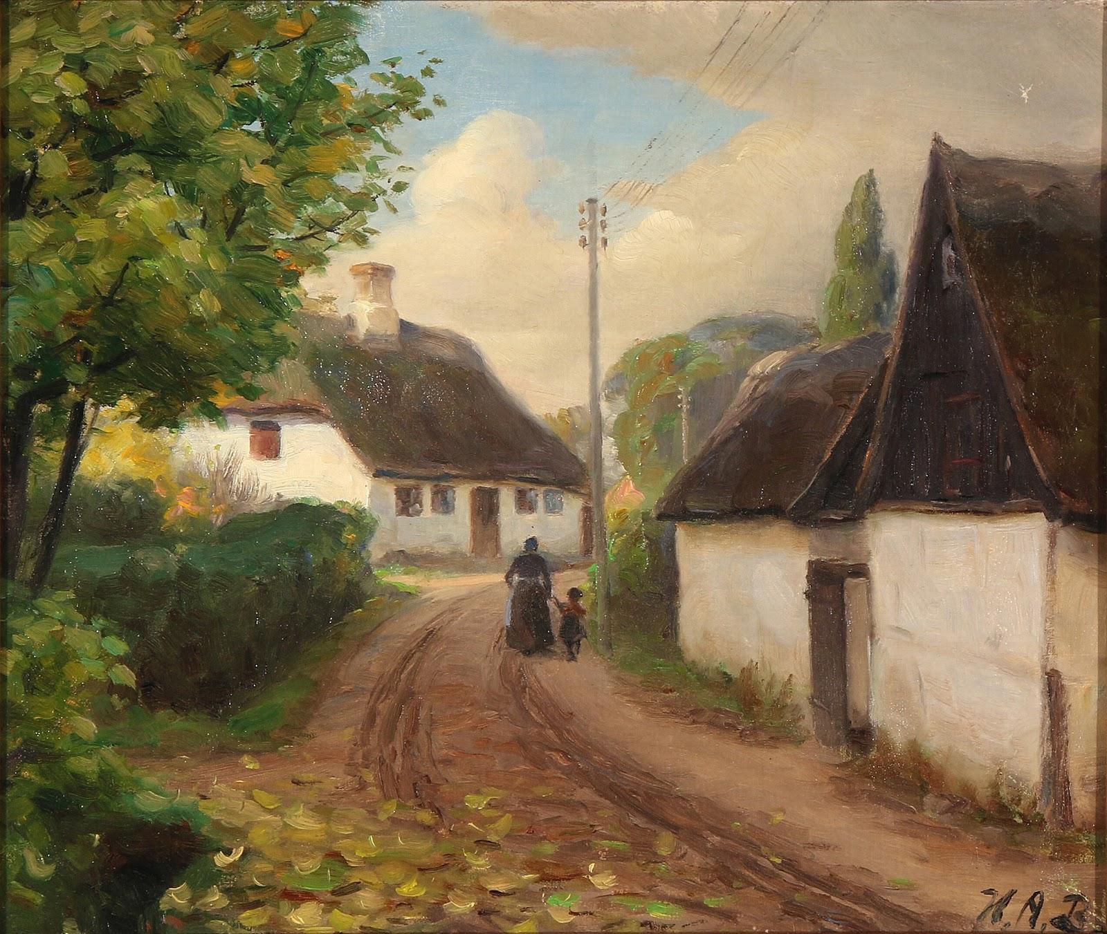 Hans Andersen  rendekilde En landsbygade med en kone og et barn C der g C Ar h C And i h C And