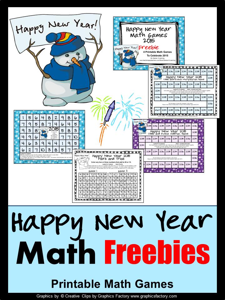 Fun Games 4 Learning: Happy New Year Fun Math!