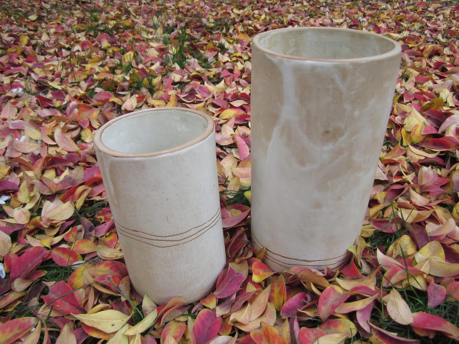 Florero ceramica gres