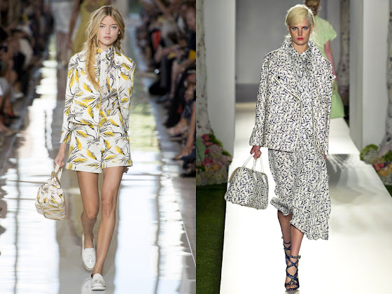 Talking Trends matching prints with Tory Burch and Mulberry