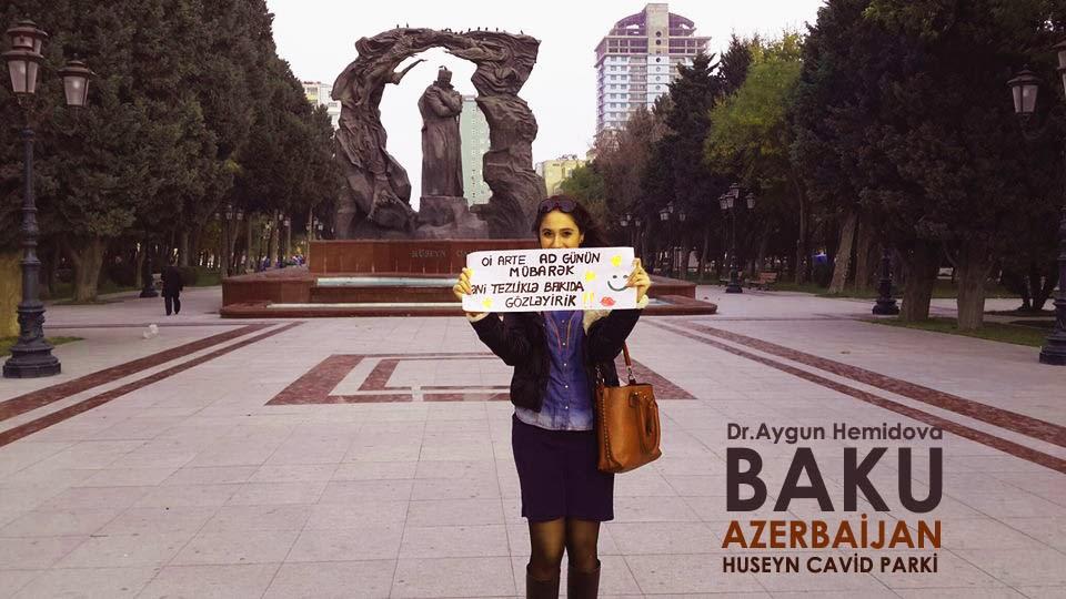 BAKÜ AZERBAYCAN tebriği