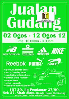 Adidas Nike Reebok Warehouse Sale 2012