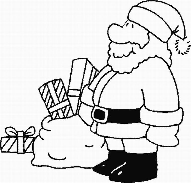 Posted in Santa Claus Coloring Pages title=
