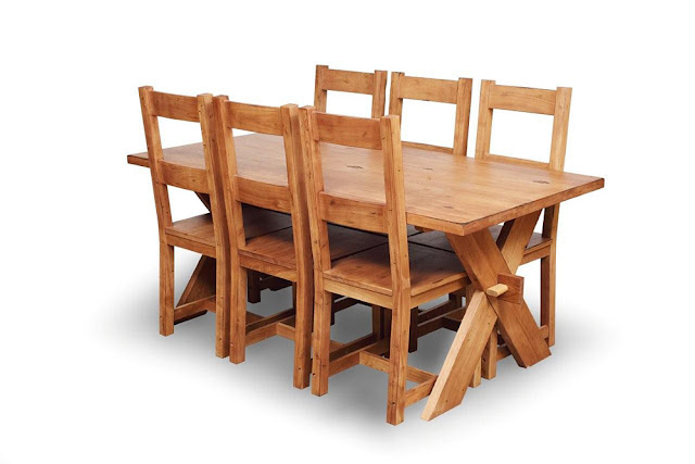 Rustic Oak Furniture Sale Dining Set