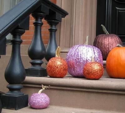 Halloween Pumpkin, Pinterest, Sparkly Pumpkins, Glitter