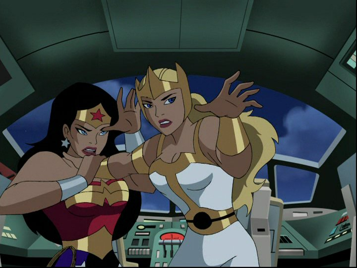 Fury and Wonder Woman in Justice League - Fury