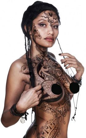 hot new zealand girls tattoos