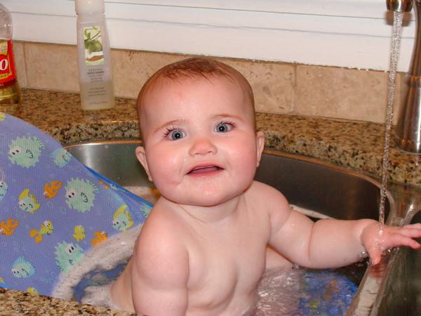Bañando al Bebé