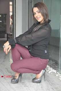 Priyanka Cha Latest Picture Gallery in Tight Jeans at Athadu Aame O Scooter Telugu Movie Interview ~ Celebs Next